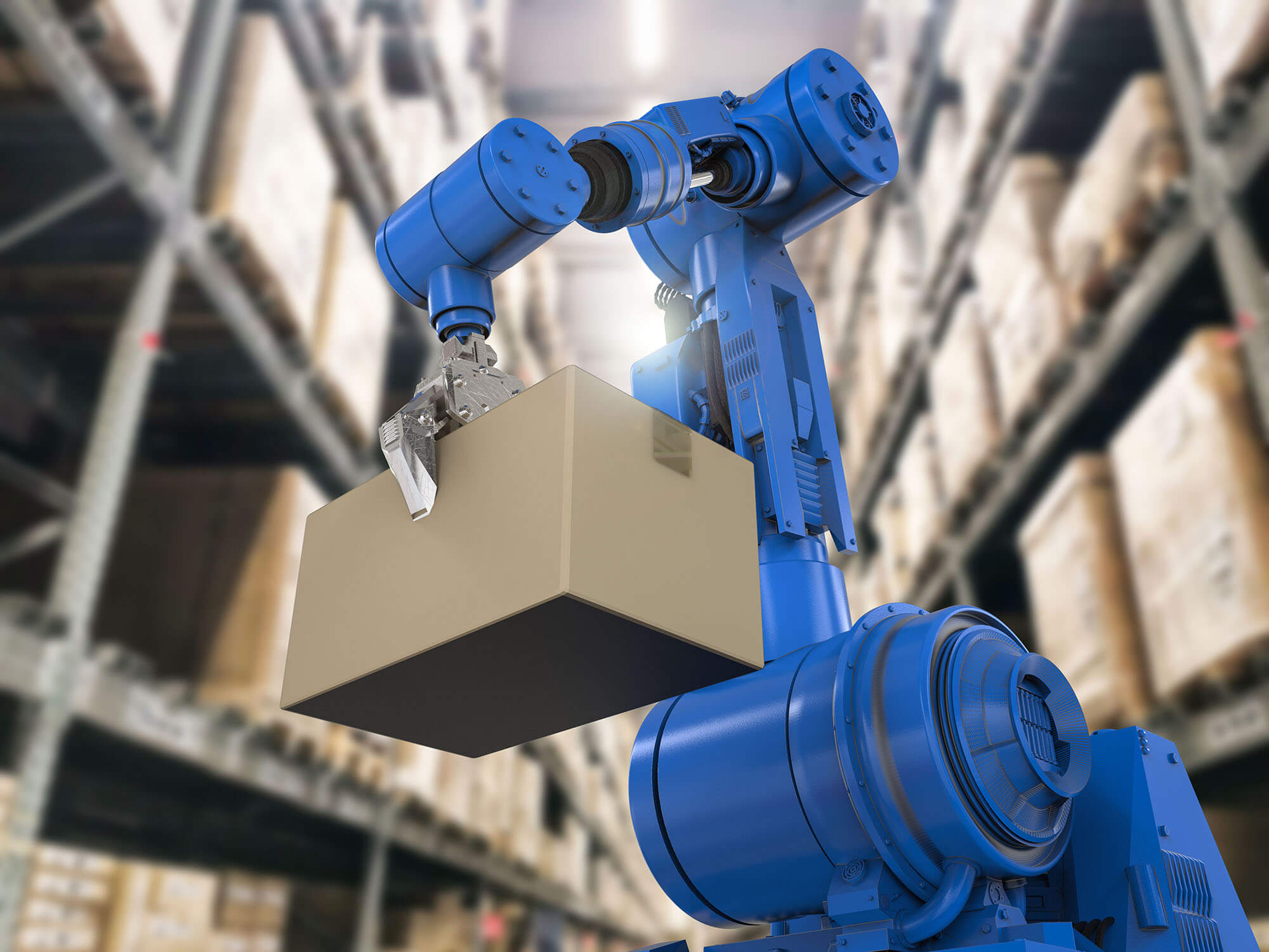 Robotic Arm in Warehouse
