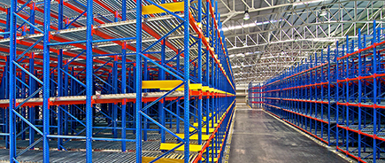 racking solutions in industrial warehousing